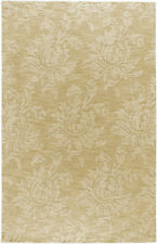 """Surya Beige 3 x 5 Floral Contemporary Hand Made Area Rug - Approx 3' 3"""" x 5' 3"""""""