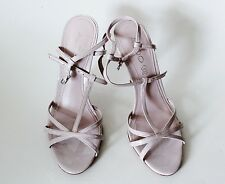 Aldo Women's Shoes Pink Leather Heels Strappy Sandals Size 37