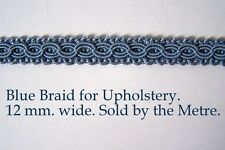 Light Blue Upholstery Braid (sold by the mtr) 12m wide