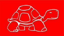 Turtle/Tortoise White Vinyl Cutout Sticker (opp direction) for Car