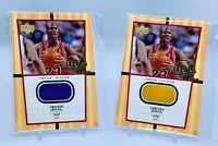Michael Jordan 1999-00 Upper Deck MJ's Final Floor Jumbo Piece Of Floor 2 cards