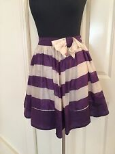 Dry-clean Only Striped 100% Silk Skirts for Women
