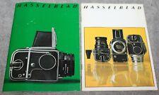 VINTAGE HASSELBLAD CATALOGS 500C/M 500EL 1971 & 1973