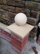 "Cast stone pier caps 1 brick pillar 225mm X 225mm + 6"" Ball"