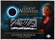 GHOST WHISPERER SEASON 1/2 SWATCH AUTO: CAMRYN MANHEIM - WORN WARDROBE AUTOGRAPH