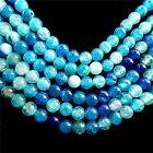KZ0037 6mm 1set/15.5inch Beautiful ball Dragon Veins Fire Agate Loose bead