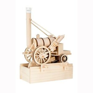 Timberkits Stephenson's Rocket - Wooden Moving Model Assembly Construction Gift