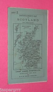 c1920 BARTHOLOMEW'S EDWARD STANFORD CYCLISTS ROAD MAP. LINEN SCOTLAND BORDERS. 5