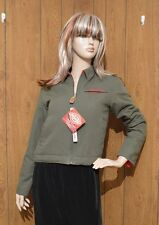 NWT Dickies Girl Army Green Fleece Lined Eisenhower Bomber Jacket Sz S