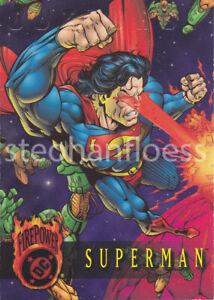 1996 Fleer Skybox DC Comics Outburst Superman Promo Embossed
