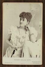 La cantatrice Adelina Patti, Opéra, Singer, Photo cabinet card, Alfred Ellis