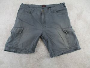 """Wolverine Shorts Cargo Mens Size 38 Gray Work Adult Relaxed Workwear Pockets 10"""""""