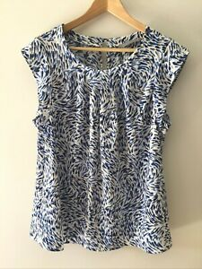 Katies Cap Sleeve Top Size 18 Multicoloured Blouse Work Office Business
