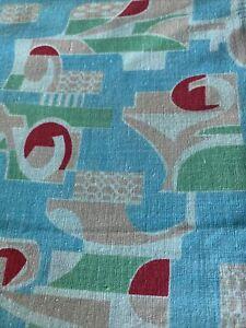 Tissu Ancien Art Deco  185x150 Cm Coton