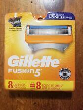 Gillette FUSION 5 Razor Blades 8 - Pack Cartridges Fits FUSION Power