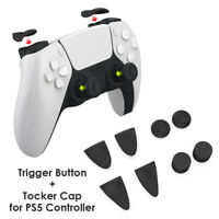 8 in 1 Rocker Caps L2 R2 Trigger ABS Buttons for PS5 Thumb Stick Grip Cover