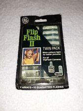 Vintage GE FlipFlash II Camera Twin Pack Arrays Flip Flash Bulbs New NOS Sealed