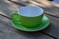 Dibbern Kaffeetasse mit Untertasse, maigrün, neu