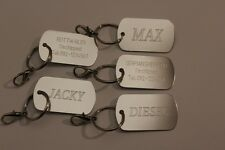 DOG ID, US ARMY STYLE ENGRAVED, TAG PERSONALIZED, DOGS, TAGS CUSTOM BADGE