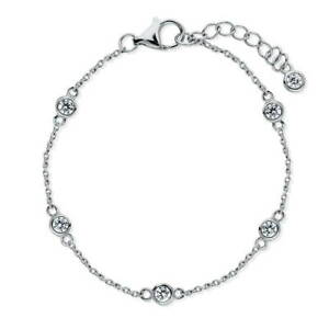 BERRICLE Sterling Silver by Yard Fashion Anklet Made with Swarovski Zirconia