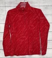 Columbia Fleece 1/4 Zip Pullover Jacket Women's Size Small Red Lightweight Coat