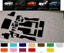 pocher hornby 1/8 lamborghini aventador self adhesive carpet set BLACK huracan