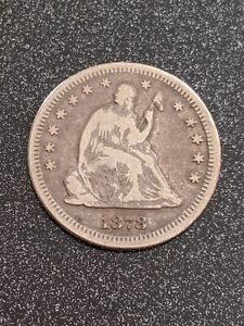 1878-CC 25c Carson City Seated Liberty Quarter Ch FINE