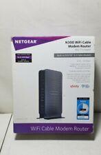 NETGEAR C3000-100NAS N300 (8x4) WiFi DOCSIS 3.0 Cable Modem Router (C3000)