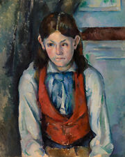Boy in a Red Vest by Paul Cézanne 60cm x 48cm Art Paper Print
