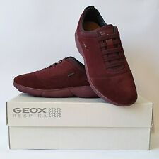Geox Women Nebula Low-Top Sneakers Trainers, Size 36 EU, 3 UK, 6 US Burgundy
