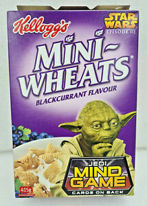 RARE STAR WARS KELLOGGS MINI-WHEATS BOX YODA Australian 2005 Promo Jedi MindGame