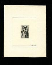 Algeria 1952 Horses War Sculpture Scott 246 Signed Sunken Die Artist Proof