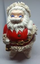 Christmas Bank Spaghetti Trim Japan Santa Claus programs Vintage Decoration used