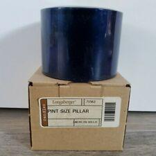 Longaberger Unburned Pint Size Pillar Candle in American Breeze - Nib