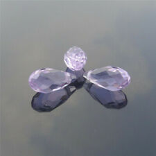 10pcs 6x12MM purple Oval Faceted Czech Crystal With Hole Teardrop Glass Beads