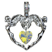 Kirks Folly Angel Love Heart Magnetic Enhancer (Silvertone) with Gift Box