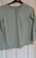 monsoon girls green stripe long sleeve t shirt 12-13 years excellent condition