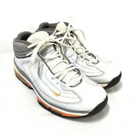 Nike TN Air Up Tempo Tuned Air Mens 8.5 White Gray Orange Athletic Walking Shoes