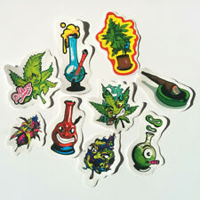 Marijuana Sticker Set Decal Pack Vinyl Weed Cannabis Leaf Pot Car 420 Bong Funny