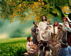Jesus Christ Motivational Inspirational Oil painting Picture Printed on canvas L