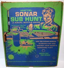 Vintage 1961 Mattel Sonar Sub Hunt Game with Original Box And Accessories AS IS