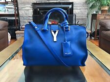 (SOLD) EUC Auth YSL Yves Saint Laurent Bag Mini Y Ligne Chyc Cabas Cobalt Blue