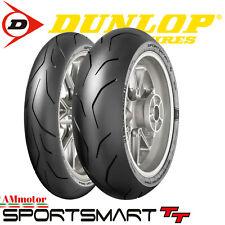 Dunlop Sportsmart TT 120 70 zr 17 + 160 60 zr 17 Coppia Gomme Pnaumatici Moto