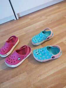Crocs  2 x Clogs Sandalen  Sandaletten  rosa Gr. 23/24(C6/ 8)