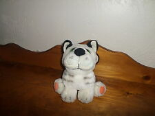 "NMint Vintage 1983 8"" Wallace Berrie Plush White Striped TIGER Cat"
