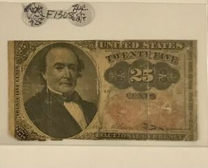 FRACTIONAL CURRENCY 25c F-1309 GREEN BACK    ON SALE!!   #17
