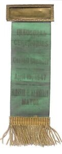 MARTIN KENNELLY CHICAGO MAYOR 1947 INAUGURAL RIBBON, PIN