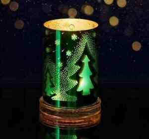 Partylite Illusions Christmas Tree Hurricane Candle Holder