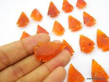 Red Carnelian Petite Arrowhead Points Flint Arrow heads Handcarved 5 Stones