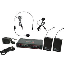 Galaxy Audio EDXR/38SV Dual Wireless System, Headset and Lavalier (B-Stock)